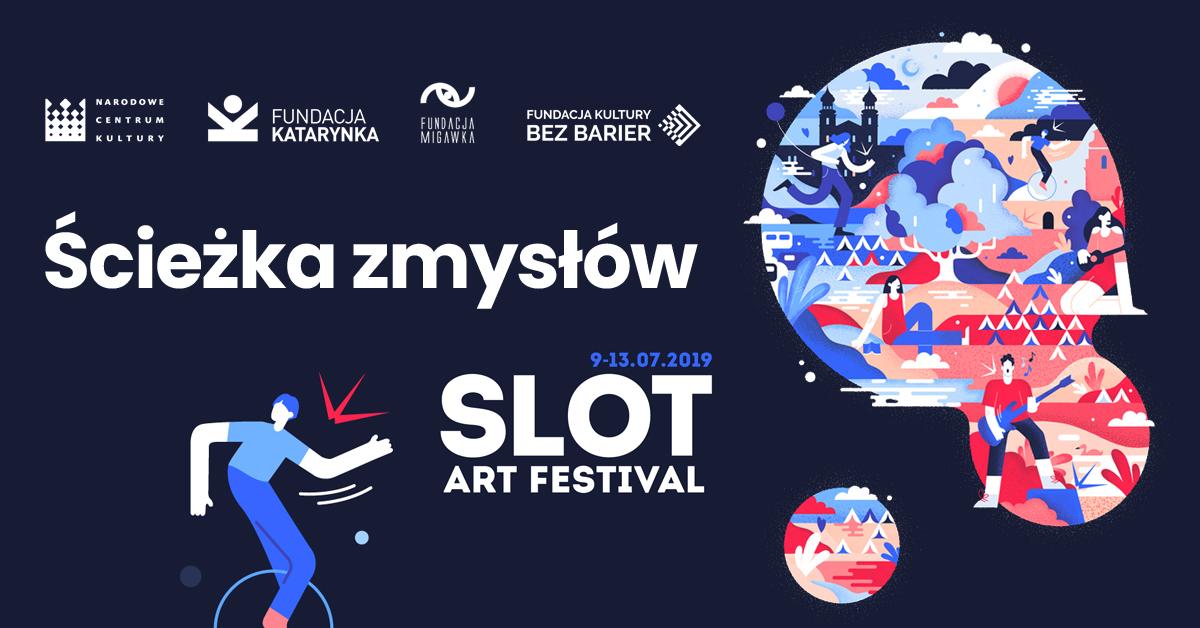 Plakat festiwalu SLOT Art Festival