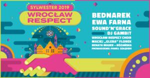 Kolorowy plakat Wrocław Respect Sylwester 2019
