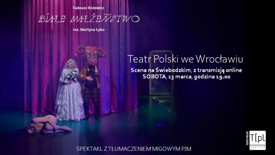 Scena ze spektaklu pt. Białe Małżeństwo