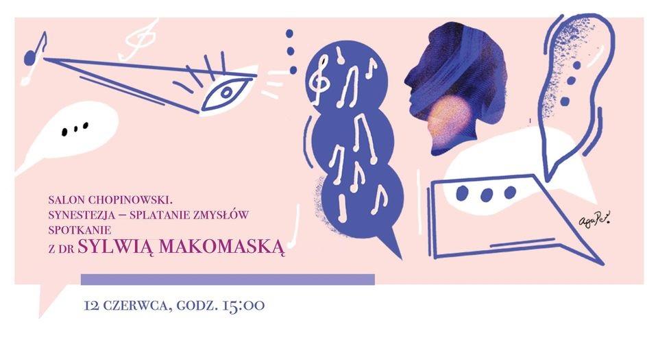 Plakat zapowiadający spotkanie z dr Sylwią Makomaską